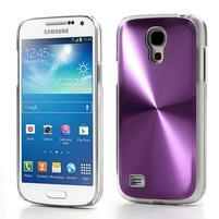 Metalický obal pre Samsung Galaxy S4 mini - fialový