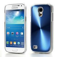 Metalický obal pre Samsung Galaxy S4 mini - modrý
