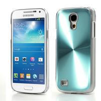 Metalický obal pre Samsung Galaxy S4 mini - tyrkysový