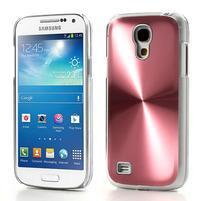 Metalický obal na Samsung Galaxy S4 mini - růžový