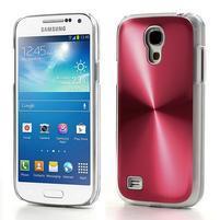 Metalický obal pre Samsung Galaxy S4 mini - červený