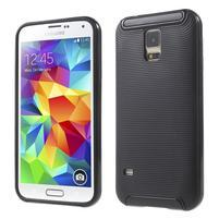 Hybridný odolný obal na Samsung Galaxy S5 - čierny
