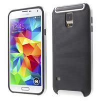 Hybridný odolný obal na Samsung Galaxy S5 - strieborný