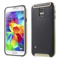 Hybridný odolný obal na Samsung Galaxy S5 - zlatý