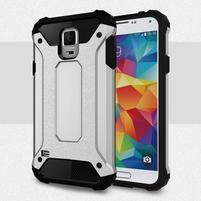 Armory odolný obal na Samsung Galaxy S5 - strieborný
