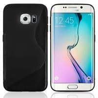 S-line galový obal na Samsung Galaxy S6 Edge - čierny