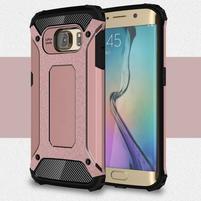 Armory odolný obal na Samsung Galaxy S6 Edge - ružovozlatý