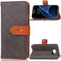 RichStar PU kožené puzdro pre mobil Samsung Galaxy S7 - čierné