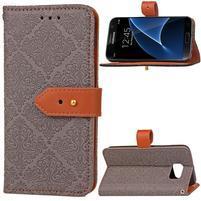 RichStar PU kožené puzdro pre mobil Samsung Galaxy S7 - šedé
