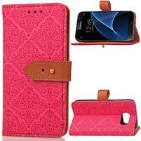 RichStar PU kožené puzdro pre mobil Samsung Galaxy S7 - rose