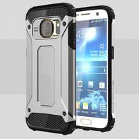 Armory odolný obal pre mobil Samsung Galaxy S7 - strieborný