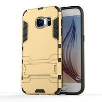 Defender gélový obal pre mobil Samsung Galaxy S7 - zlatý