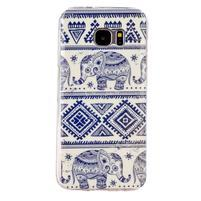 Motive gélový obal na Samsung Galaxy S7 Edge - sloni