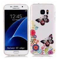 Shelly transparentný gélový obal na Samsung Galaxy S7 Edge - motýliky