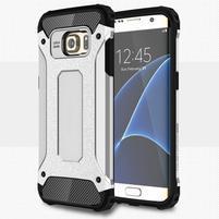 Armory odolný obal na Samsung Galaxy S7 Edge - strieborný