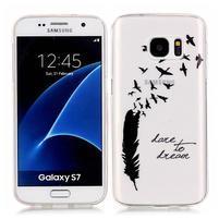 Shelly transparentný gélový obal na Samsung Galaxy S7 - malé pierko