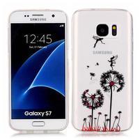 Shelly transparentný gélový obal na Samsung Galaxy S7 - púpavy