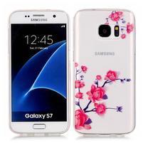 Shelly transparentný gélový obal na Samsung Galaxy S7 - kvitnúca vetvička