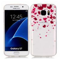 Shelly transparentný gélový obal na Samsung Galaxy S7 - srdiečka