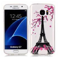 Shelly transparentný gélový obal na Samsung Galaxy S7 - Eiffélova veža
