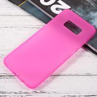 Finger matný gélový obal pre mobil Samsung Galaxy S8 - ružový