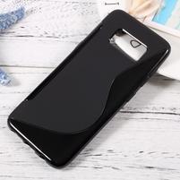 SLine gélový obal pro telefon Samsung Galaxy S8 - čierný