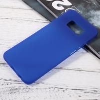 Finger matný gélový obal pre mobil Samsung Galaxy S8 - modrý