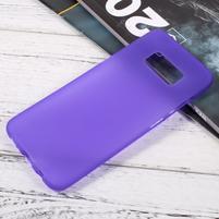 Finger matný gélový obal pre mobil Samsung Galaxy S8 - fialový