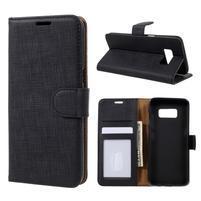 Clothy PU kožené puzdro pre Samsung Galaxy S8 - čierne