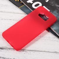 Finger matný gélový obal pre mobil Samsung Galaxy S8 - červený