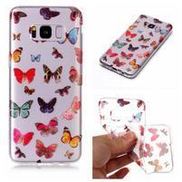 Patty gélový obal na Samsung Galaxy S8 - motýliky