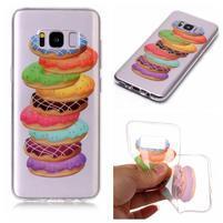 Patty gélový obal na Samsung Galaxy S8 - makrónky