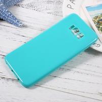 GT lesklý gélový obal pre Samsung Galaxy S8 Plus - azúrový