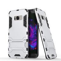 Guard odolný obal pre mobil Samsung Galaxy S8 Plus - strieborny