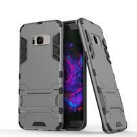Guard odolný obal pre mobil Samsung Galaxy S8 Plus - šedý