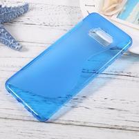 S-line gélový obal pre mobil Samsung Galaxy S8 Plus - modrý