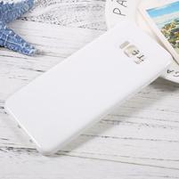 GT lesklý gélový obal pre Samsung Galaxy S8 Plus - biely