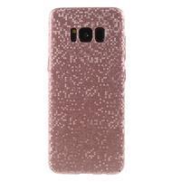 Mosaic plastový obal so vzorkom na Samsung Galaxy S8 Plus - ružovozlatý