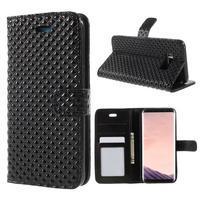 Rhomb peňaženkové puzdro na Samsung Galaxy S8 Plus - čierne