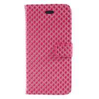 Rhomb peňaženkové puzdro na Samsung Galaxy S8 Plus - rose