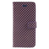 Rhomb peňaženkové puzdro na Samsung Galaxy S8 Plus - fialové