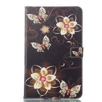 Patty knižkové puzdro na tablet Samsung Galaxy Tab A 10.1 (2016) - kvetiny