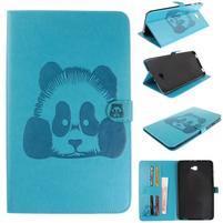 Panda polohovateľné PU kožené puzdro na Samsung Galaxy Tab A 10.1 (2016) - modré