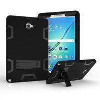 KickStand odolný obal so stojančekom na Samsung Galaxy Tab A 10.1 (2016) - čierny
