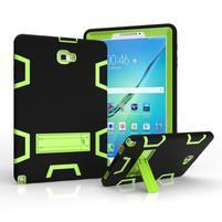 KickStand odolný obal so stojančekom na Samsung Galaxy Tab A 10.1 (2016) - zelený
