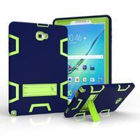 KickStand odolný obal so stojančekom na Samsung Galaxy Tab A 10.1 (2016) - modrý/zelený