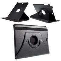 Otočné PU kožené puzdro na Samsung Galaxy Tab A 9.7 - čierne