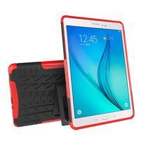 Outdoor odolný obal so stojančekom na tablet Samsung Galaxy Tab A 9.7 - červený