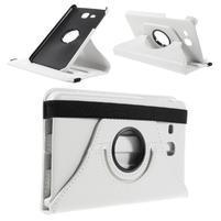 Circ PU kožené otočné puzdro pre Samsung Galaxy Tab A 7.0 - biele