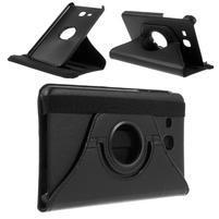 Circ PU kožené otočné puzdro pre Samsung Galaxy Tab A 7.0 - čierne